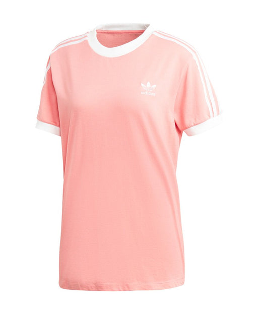 Wmns 3 Stripes T-shirt Pink/White