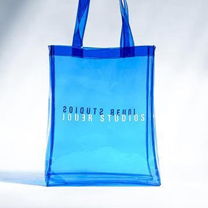 Transparent Tote Sea Blue