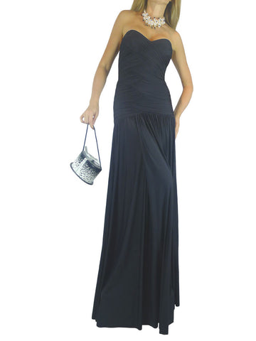 AnaMaria Couture black Blake strapless gown. M