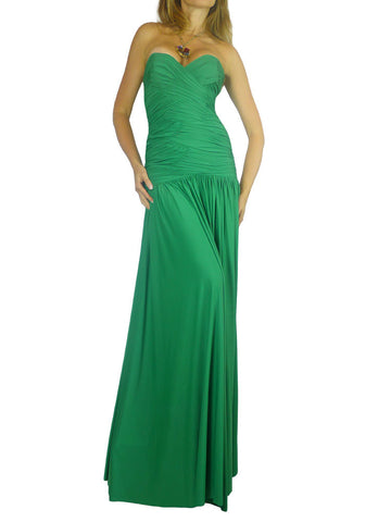AnaMaria Couture green Blake long gown. M