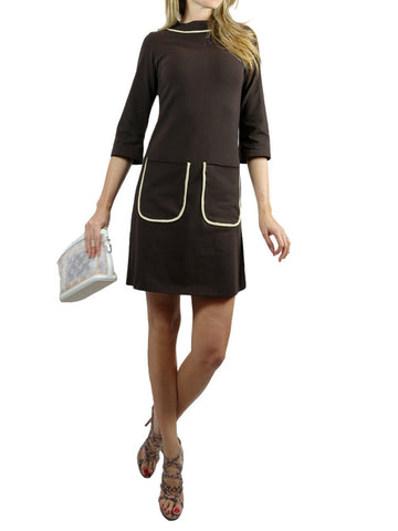 On57 NEW YORK brown dress with 3/4 sleeves. S, M, L