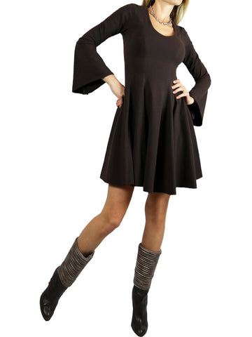 On 57 New York brown long sleeves dress. S,M,L