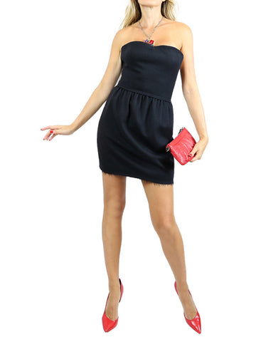 Fendi black strapless cocktail mini dress. 36/XS