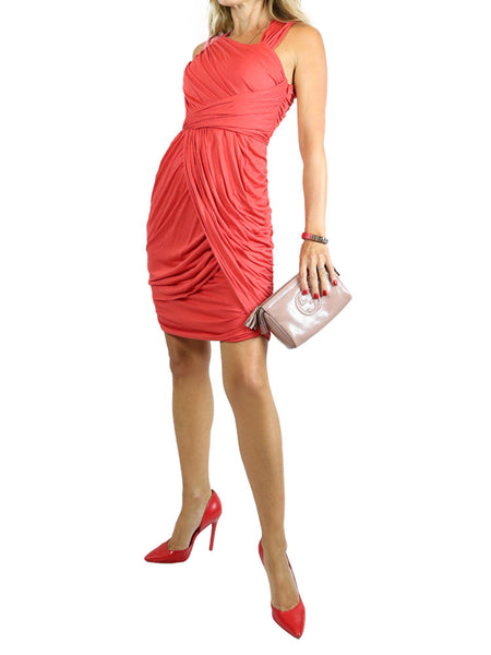 FENDI red sleeveless draped dress. EU 36/US 2