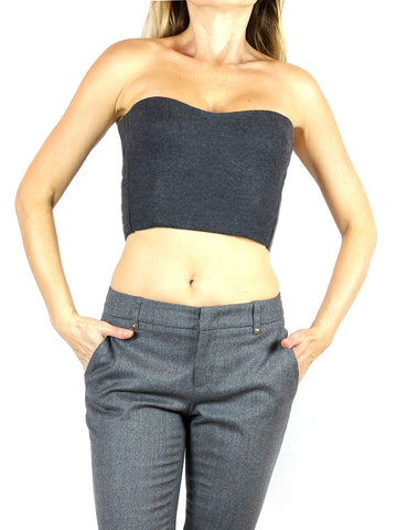 FENDI Strapless Bustier Top in Gray. EU 38/US 0