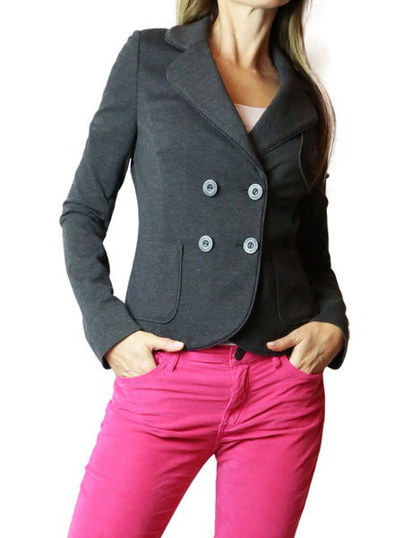 JUICY COUTURE gray double breasted blazer jacket. S
