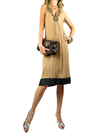 Catherine Malandrino beige silk dress. 6