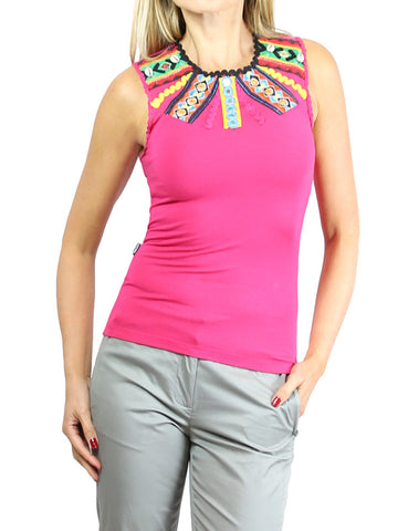MOSCHINO purple beaded top. EU 38/XS