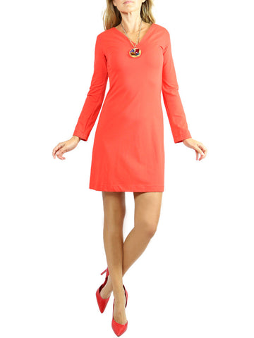 On57 New York coral red long sleeves dress. S