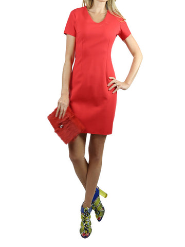 ON57 NEW YORK red dress with short sleeves, S,M.L