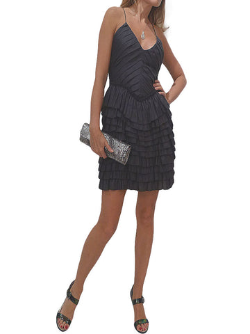 Ermanno Scervino navy blue dress.42/S