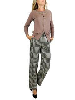 BIBA stripe gray gold pants. US 2