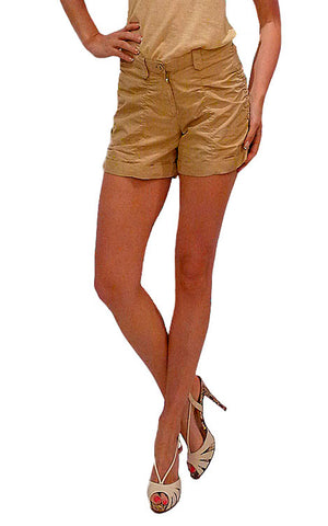 BOTTEGA VENETTA beige shorts. US 4