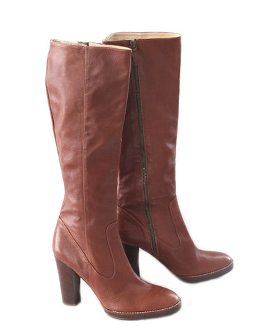 MICHAEL KORS leather tall boots in brown. US 8.5