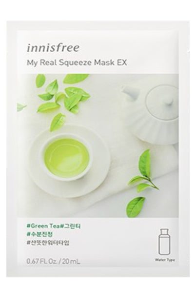 Innisfree | My Real Squeeze Mask Green Tea Mask | Shop Mujer Bonica