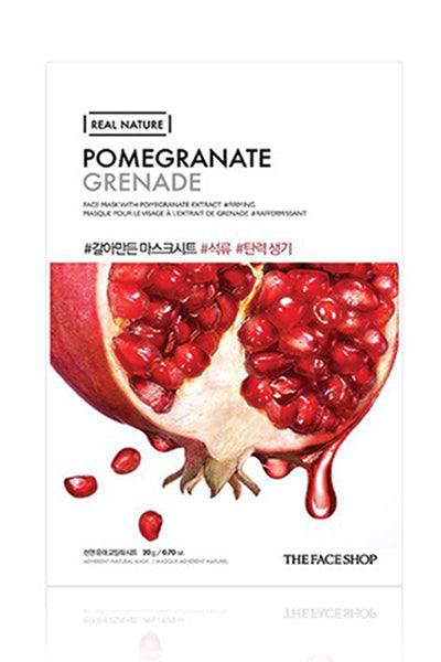 Real Nature | Pomegranate Face Mask | Shop Mujer Bonica