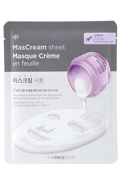 MasCream | Firming Sheet Mask | Shop Mujer Bonica