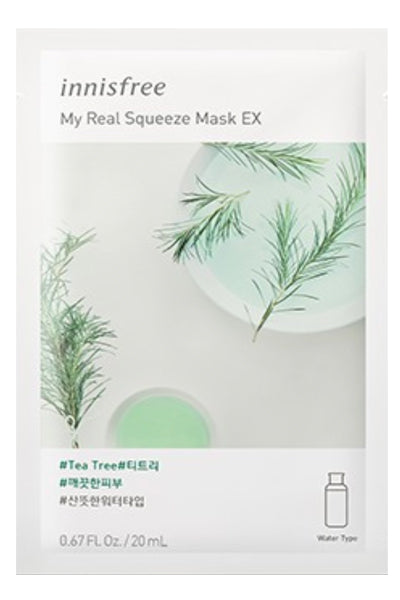 Innisfree | My Real Squeeze Mask Tea Tree | Shop Mujer Bonica