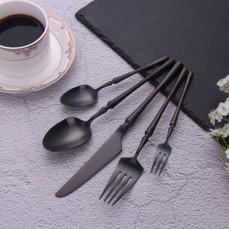 Black Flatware - 13 piece Set