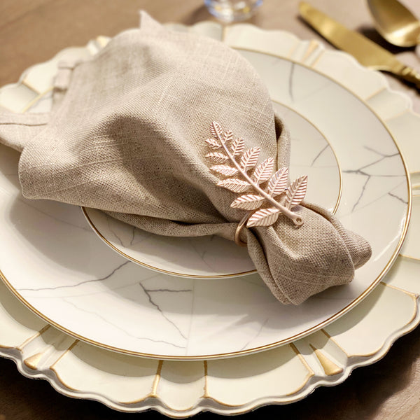 fall napkin rings leaf