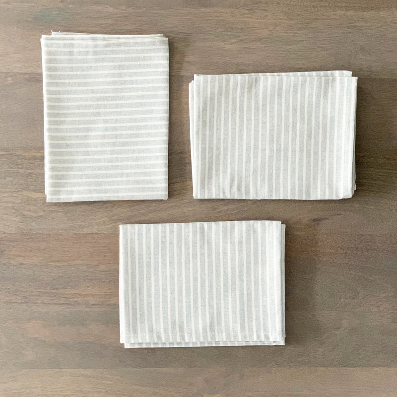 Pinstripe Cotton Napkin Set
