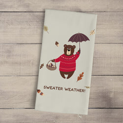 Sweater Weather Fall Tea Towel