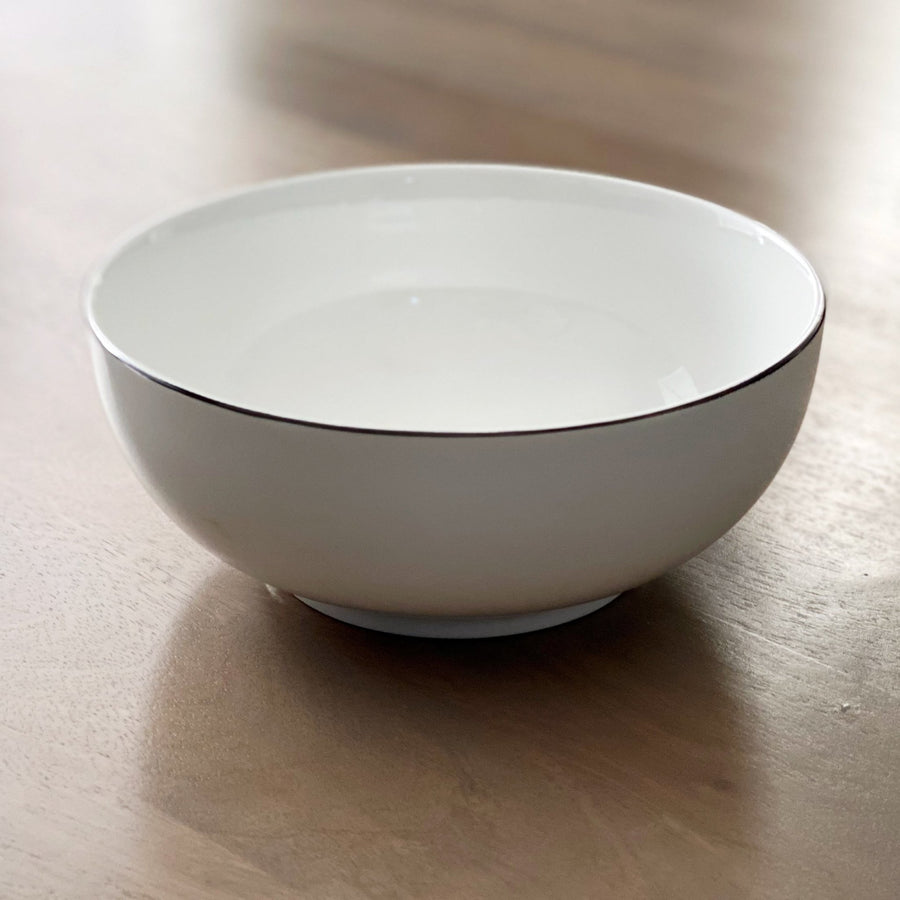 Black Rim Serving Bowl - Tea + Linen