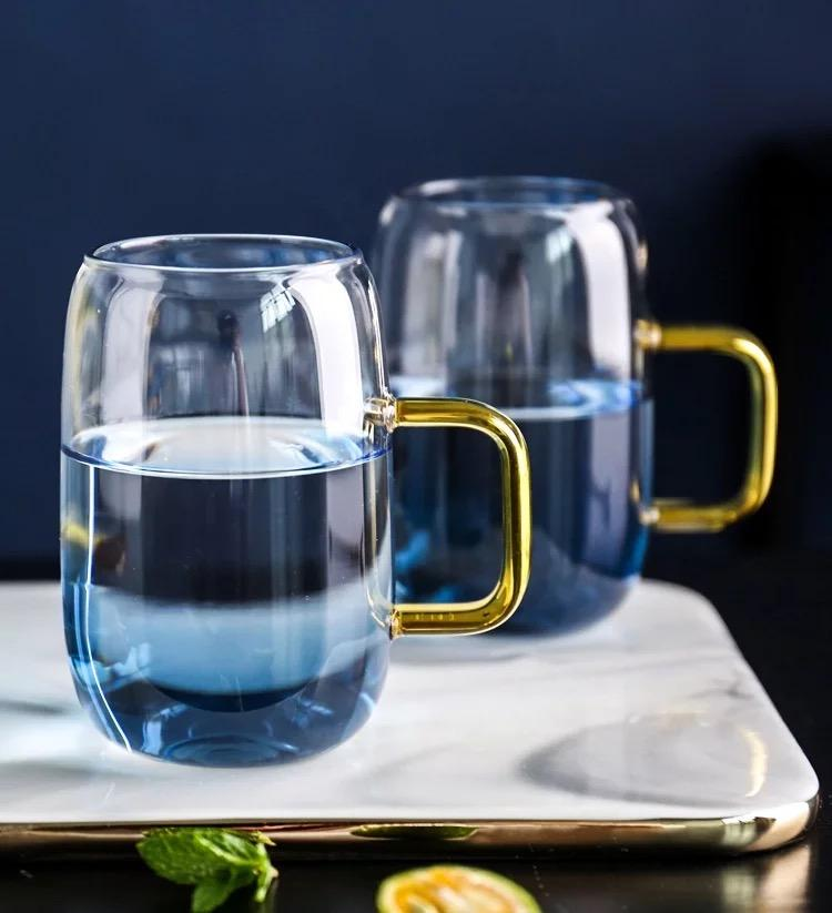 Blue Ombre Glass Pitcher and Cups Set - Tea + Linen