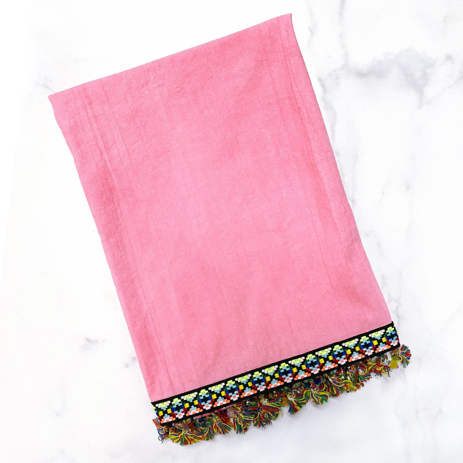Pink Boho Tea Towel - Tea + Linen