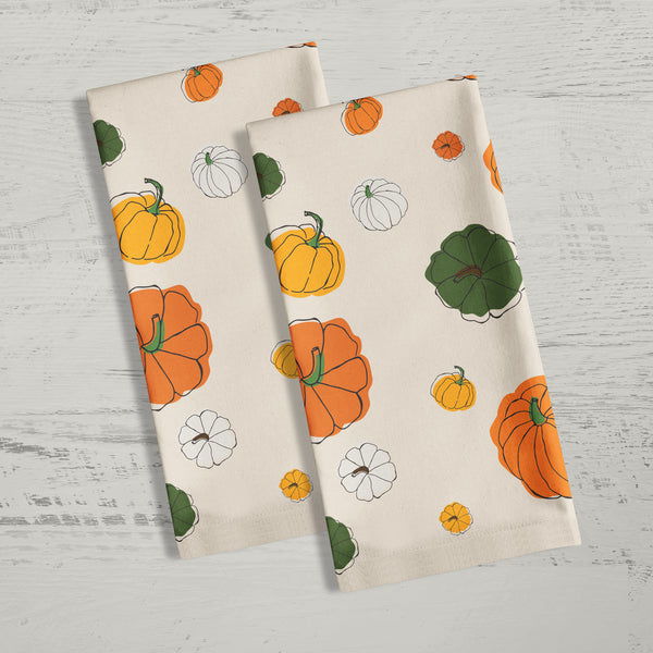 Pumpkins Tea Towel