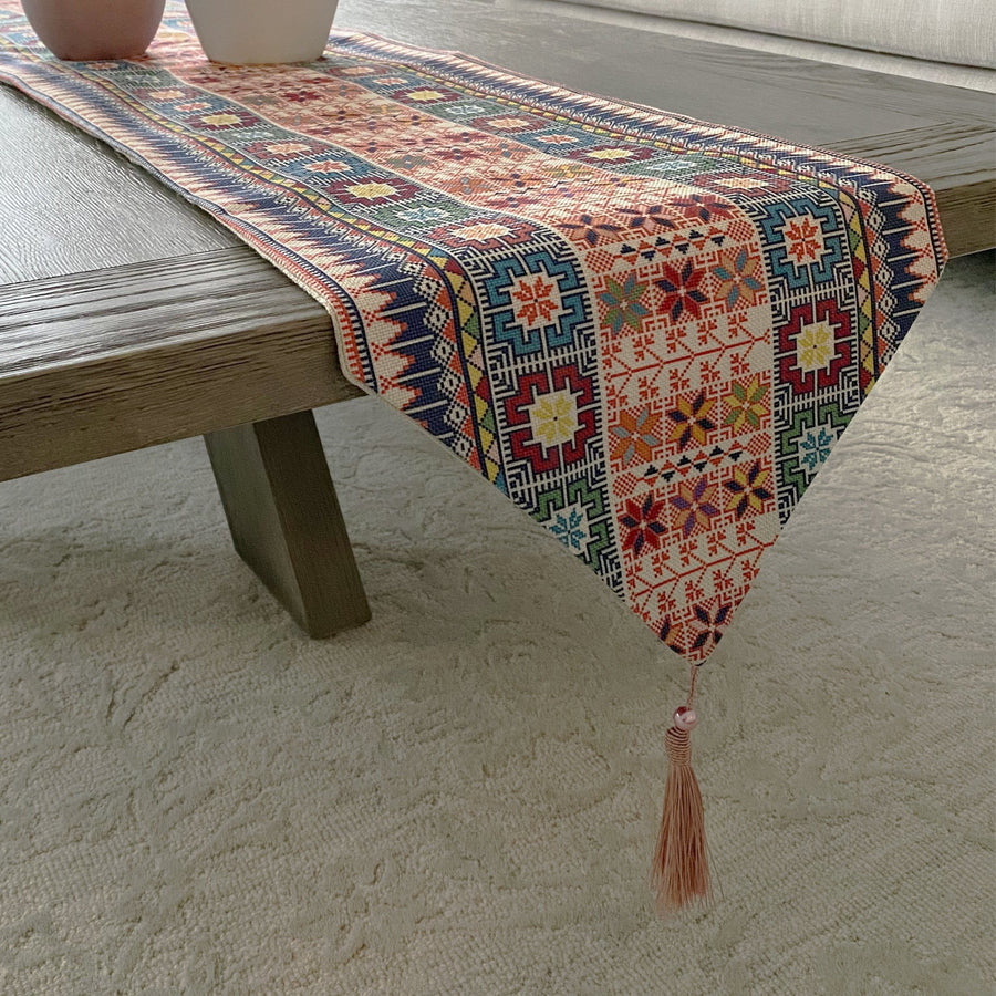 Zaria Table Runner - Tea + Linen