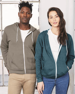 BELLA + CANVAS 3739 - Unisex Sponge Fleece Full-Zip Hoodie