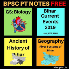 Load image into Gallery viewer, 65th BPSC PT Notes in Hindi / English FREE (PDF) - Mindplan