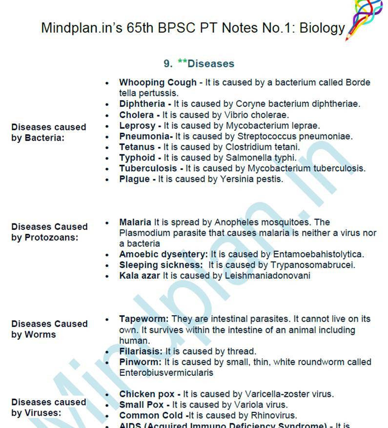 65th BPSC PT Guide Notes & Study Material in Hindi & English PDF