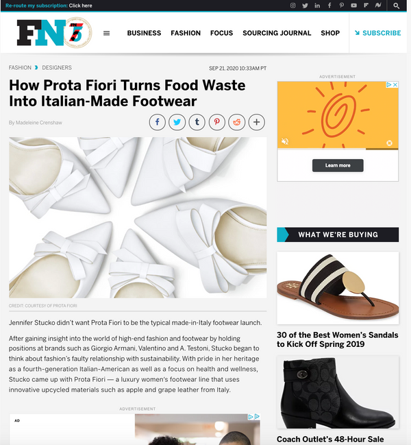 PROTA FIORI on Footwear News