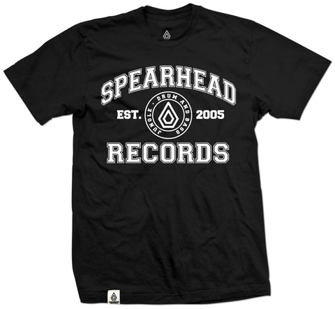 Spearhead 'College' T-Shirt - Black