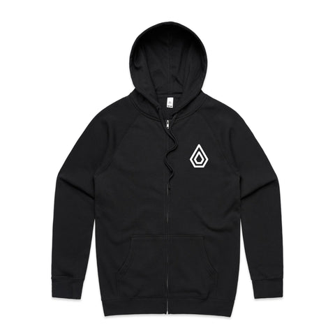 Spearhead Logo Zip Up Hoodie (With large logo back print).
