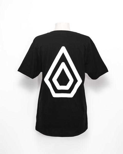 Spearhead Logo T-Shirt with large logo back print. Black.