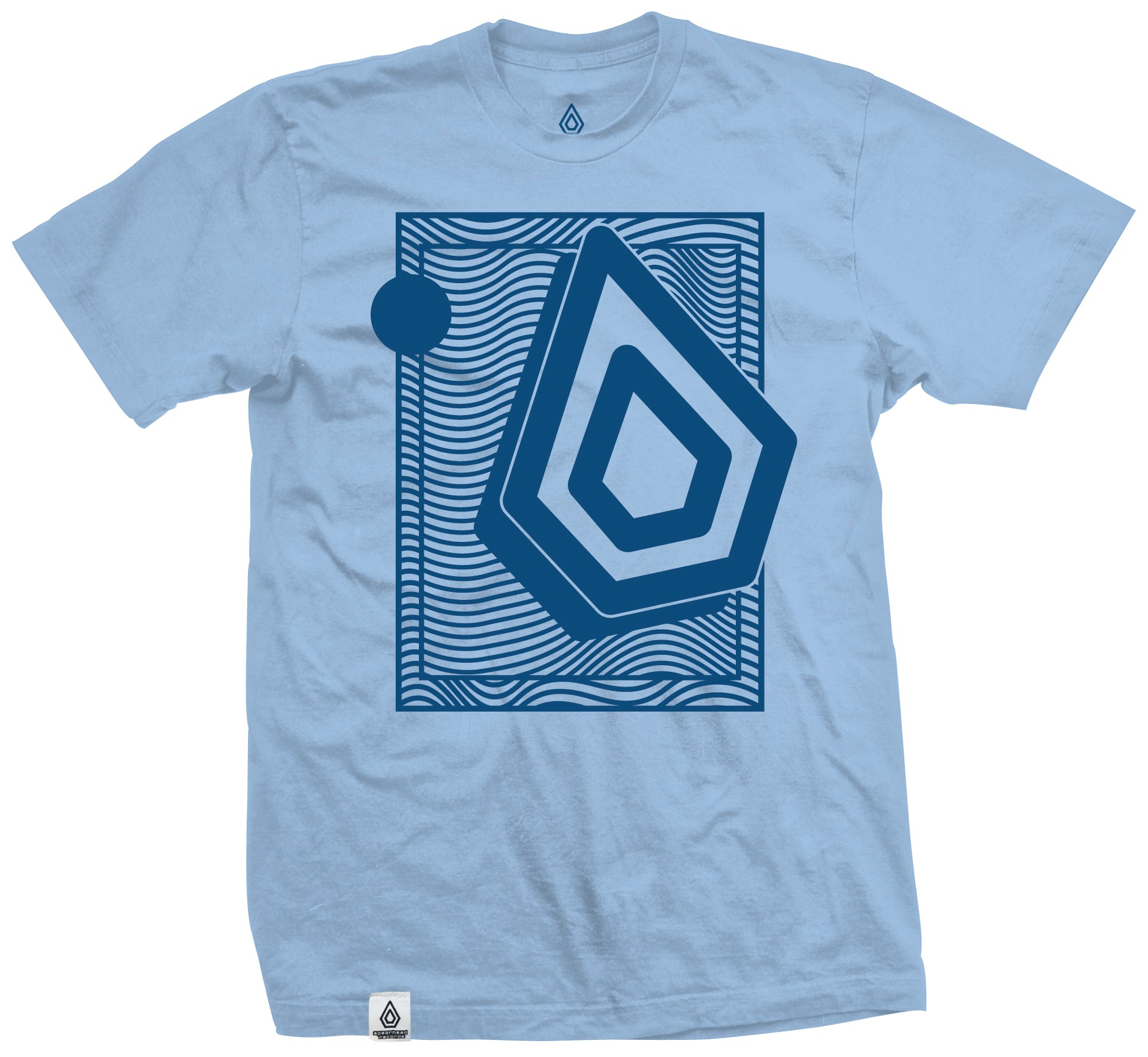 Spearhead 'Wavey' Tee - Blue