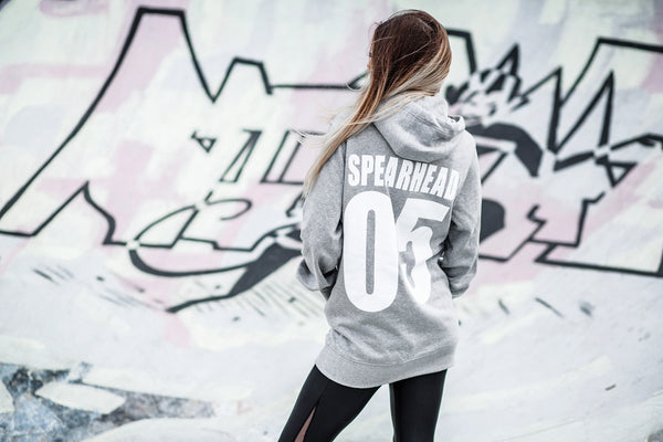 SALE - Spearhead 'Sports' Unisex Hoodie - Sports Grey