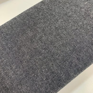 Charcoal Yarn Dyed Cotton Linen Blend
