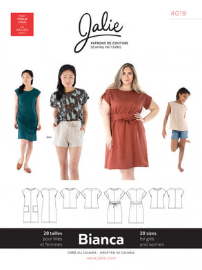 Bianca Dress and Top JALIE Woman's and Girls Sewing Pattern