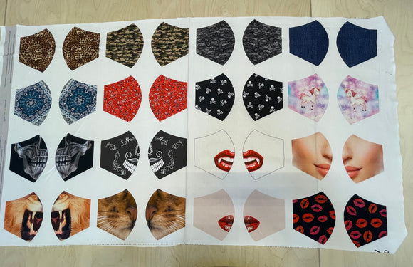 16 Mask Panels Cotton Poplin