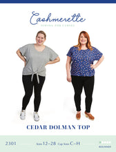 Load image into Gallery viewer, Cedar dolman Top Cashmerette Sewing Pattern