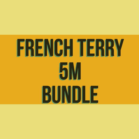 French Terry Solids 5m Bundle
