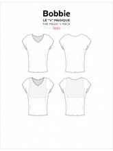 Load image into Gallery viewer, Bobbie V Neck Top JALIE Woman's and Girls Sewing Pattern
