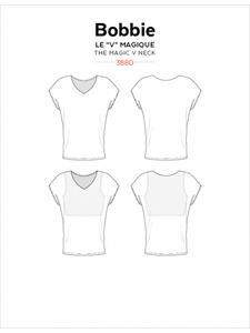 Bobbie V Neck Top JALIE Woman's and Girls Sewing Pattern