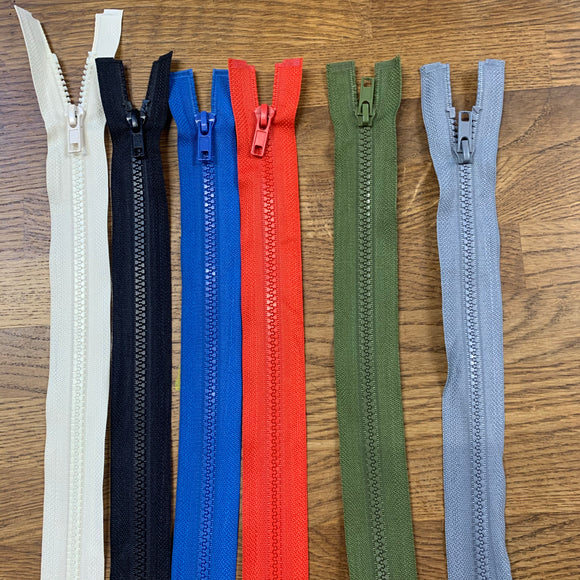 Chunky Zips - various size and colour