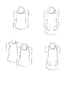 Raglan tee, racer back Tank and Tunic JALIE Woman's and Girls Sewing Pattern