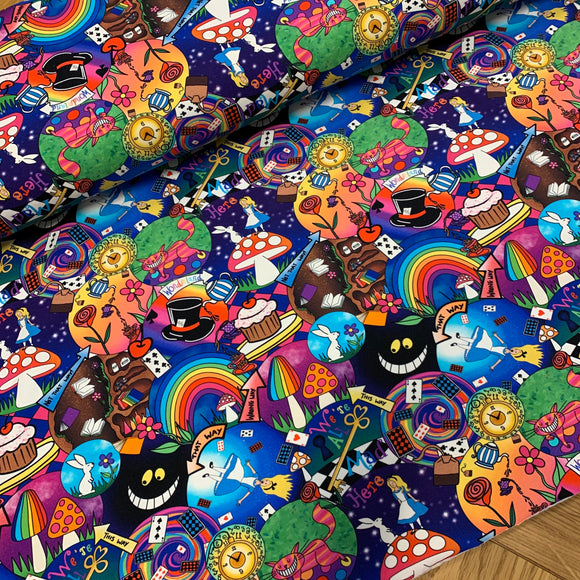 PRE ORDER Wonderland Cotton Jersey Fabric- DUE IN STOCK W/C 12/04